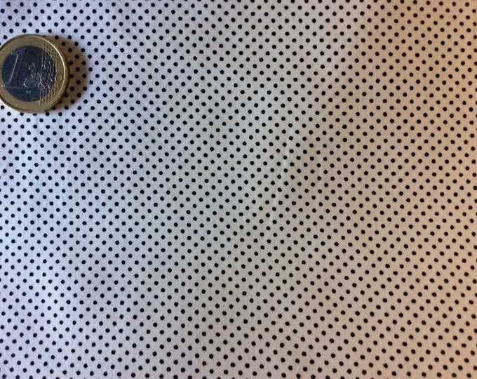 High quality cotton poplin, black/white polka dots