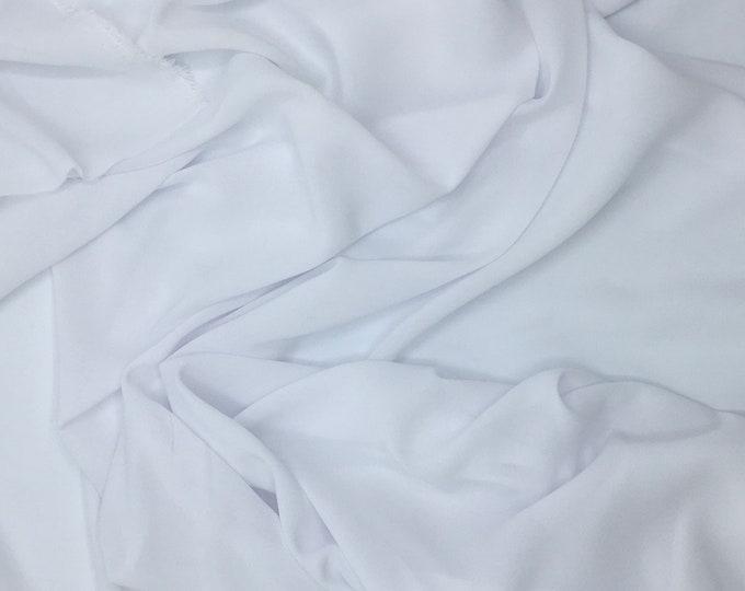 High quality Faux Silk Chiffon. White nr5