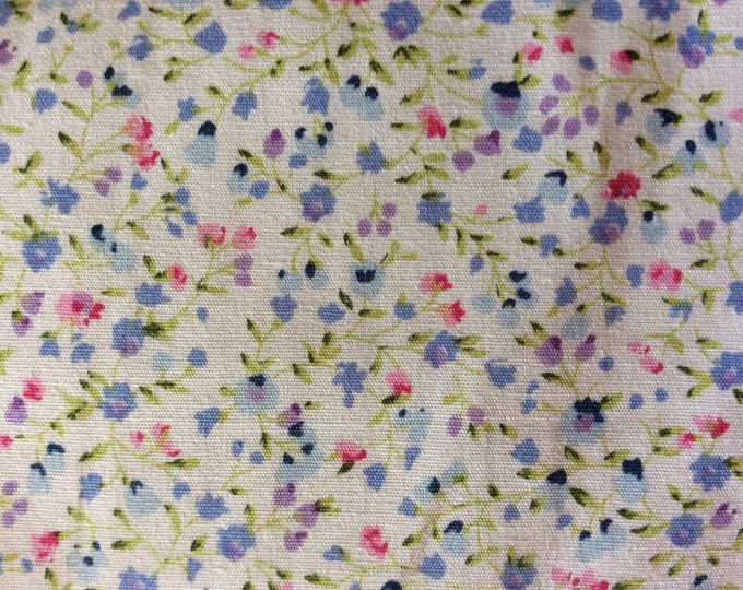 High quality cotton poplin, small floral print