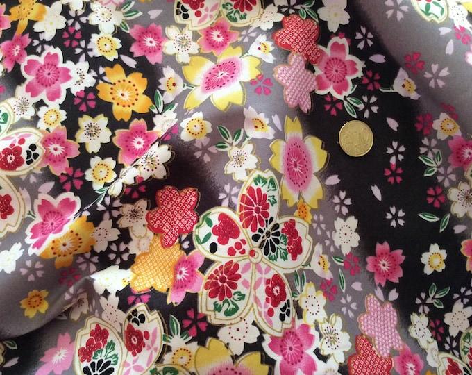 High quality cotton poplin, Japanese print on blue