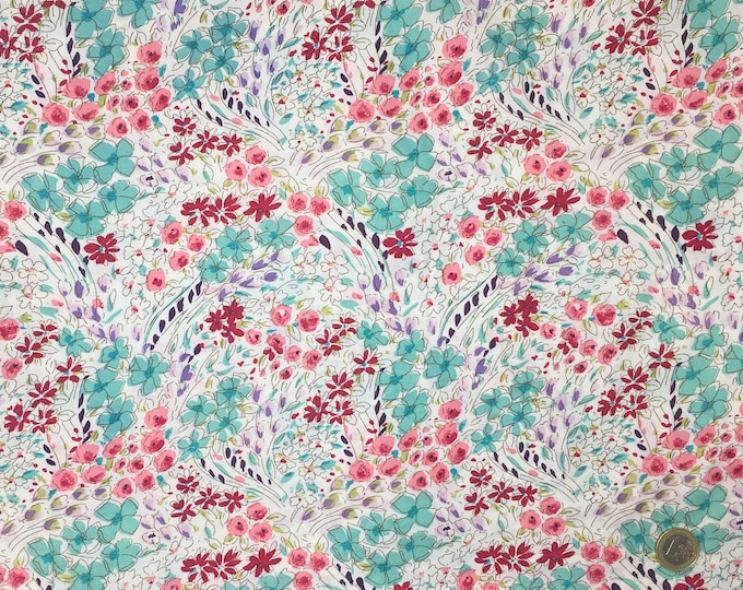 English Pima lawn cotton fabric, Normandy