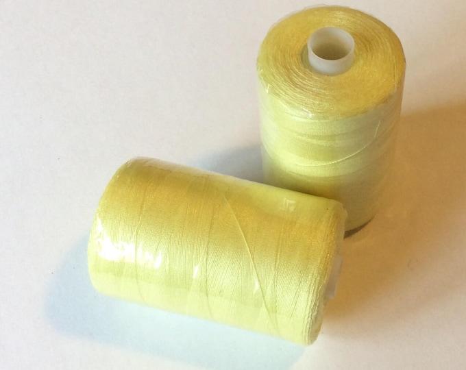 Sewing thread, 1000yds or 915m, lemon yellow