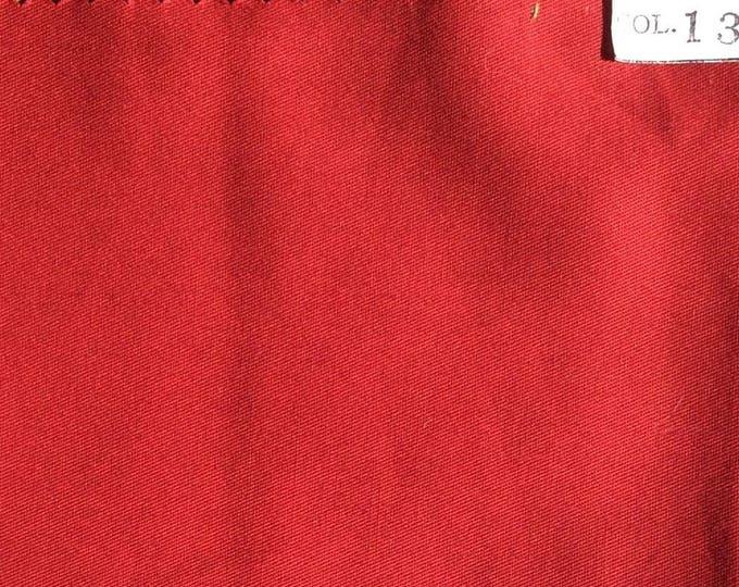 High quality, light cotton twill, maroon