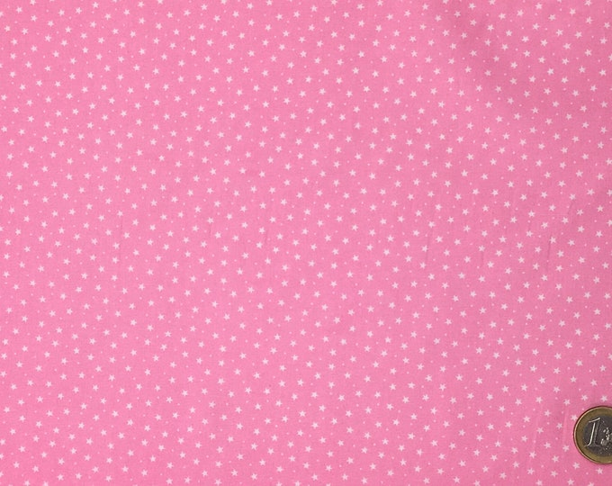 High quality cotton poplin, stars on pink