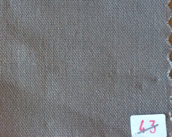 High quality soft cotton canvas dyed in Japan, light brown nr43