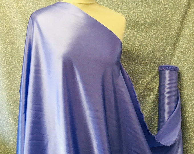 Lavender blue nr19, High quality silky satin back, close to genuine silk crepe, backed crepe.