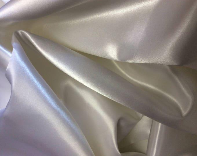 Off white duchess sateen fabric
