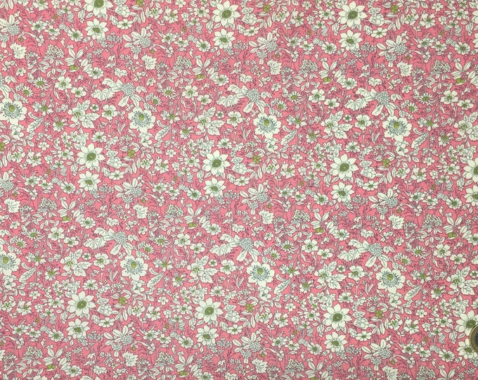 High quality cotton poplin prit Edna in Japan, pink floral print