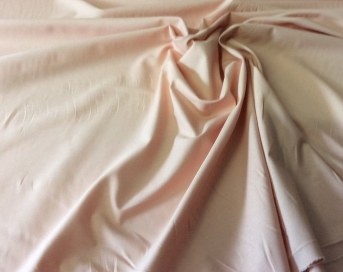 High quality cotton poplin dyed in Japan. Peach no21
