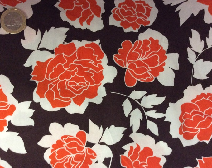 High quality cotton poplin dyed in Japan with vintage roses
