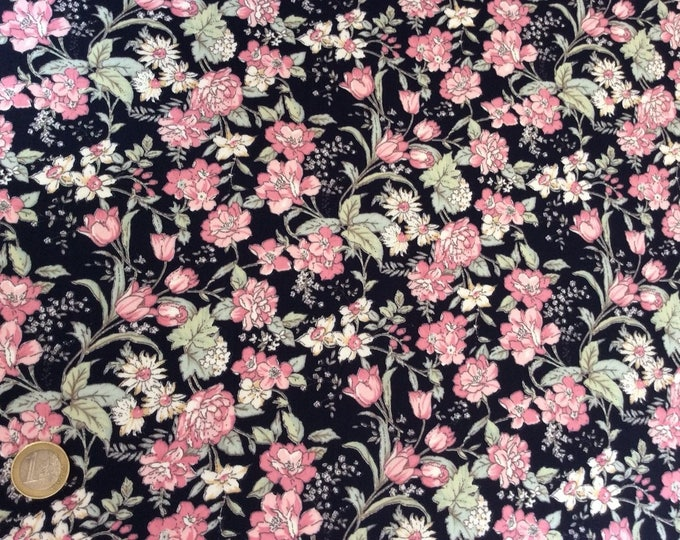 High quality cotton poplin printed in Japan, floral print