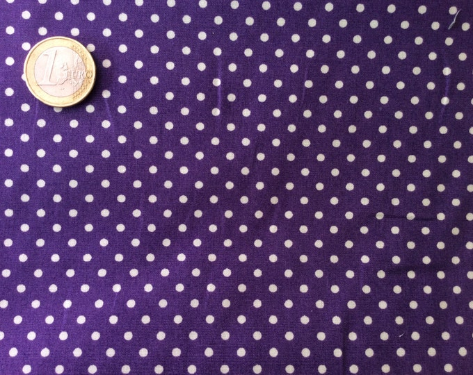 High quality cotton poplin dyed in Japan with 3mm polka dots no28