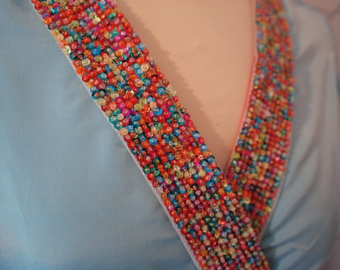 "Beaded or Embroidered ribbon, sold per meter ""39"""