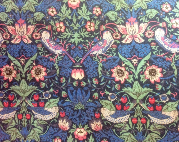 Tana lawn fabric from Liberty of London, Strawberry Thief