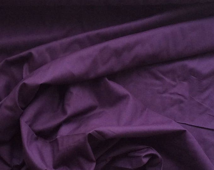 Plain cotton lawn fabric, eggplant
