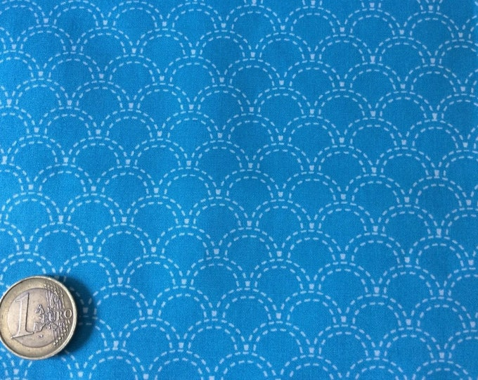 High quality coton poplin, turquoise Japanese print