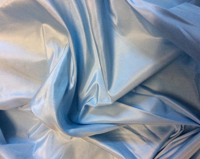 Pure silk fabric, light blue