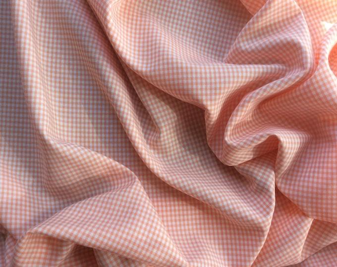 Vichy cotton poplin, salmon no12