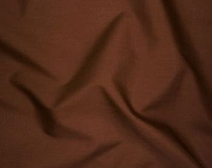 High quality cotton poplin dyed in Japan. brown no25