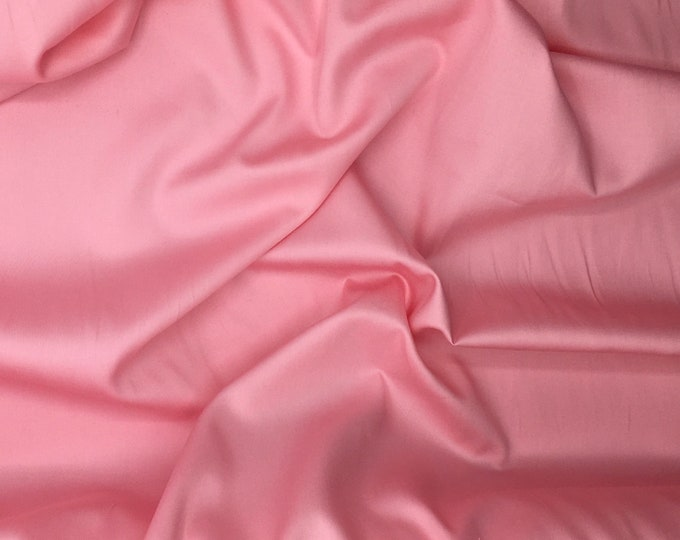 High quality cotton satin, baby pink