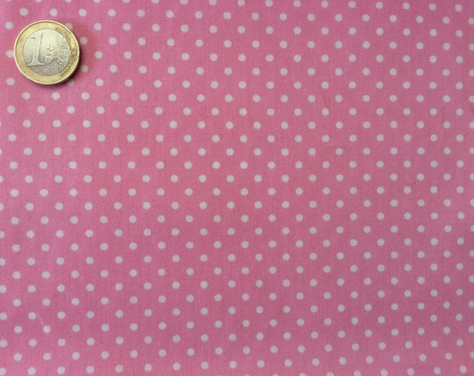 High quality cotton poplin dyed in Japan with 2mm polka dots nr19