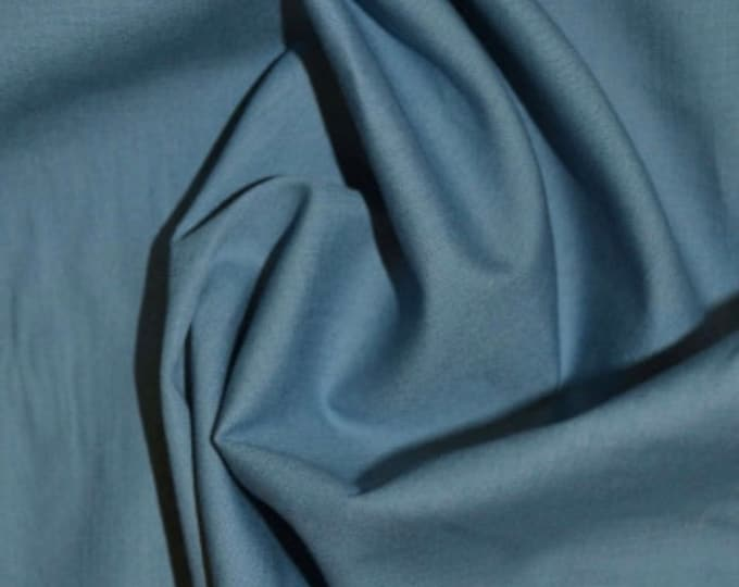 High quality cotton poplin dyed in Japan. Wodge