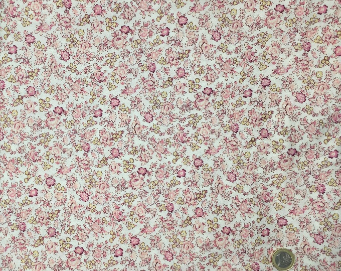English Pima lawn cotton fabric, Vintage Roses