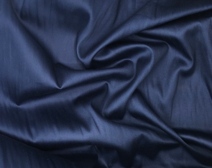 High quality cotton satin, navy nr37