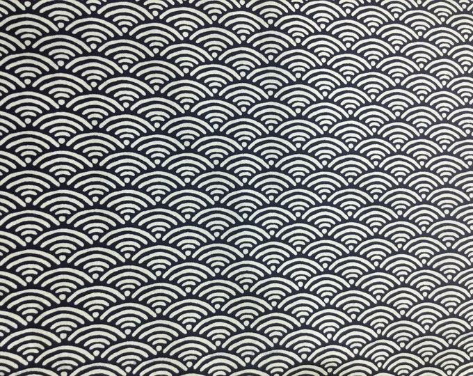 High quality cotton poplin. Sashiko print on black