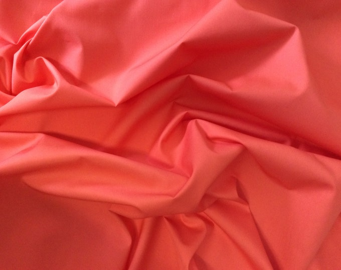 High quality cotton poplin dyed in Japan. Coral no56