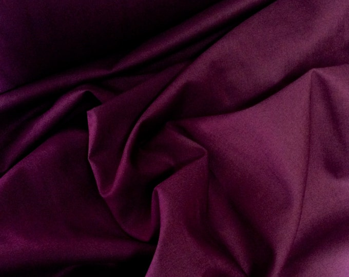 High quality cotton lawn dyed in Japan. Eggplant nr15