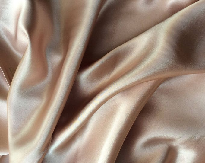 High quality silky sateen, very close to genuine silk sateen. Champagne No9