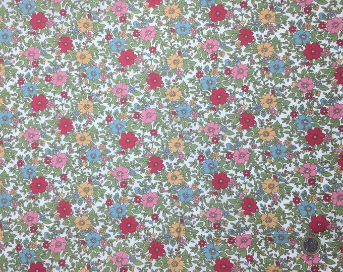 High quality cotton poplin dyed in Japan with vintage floral