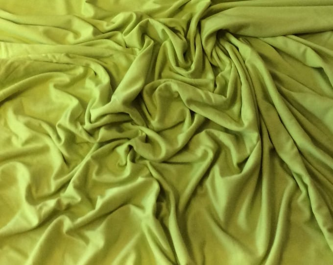 Apple green cotton/viscose jersey fabric