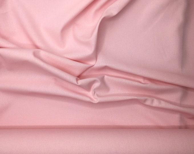 Thick, faux linen, cotton fabric, pale pink no1