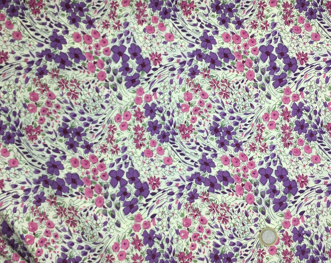 English Pima lawn cotton fabric, priced per 25cm.