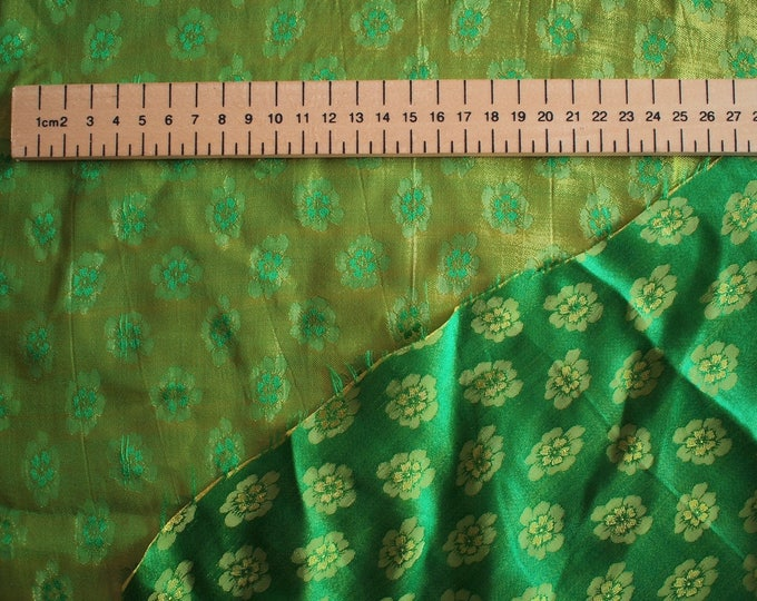 Silk sateen, paisley patterned brocade weave