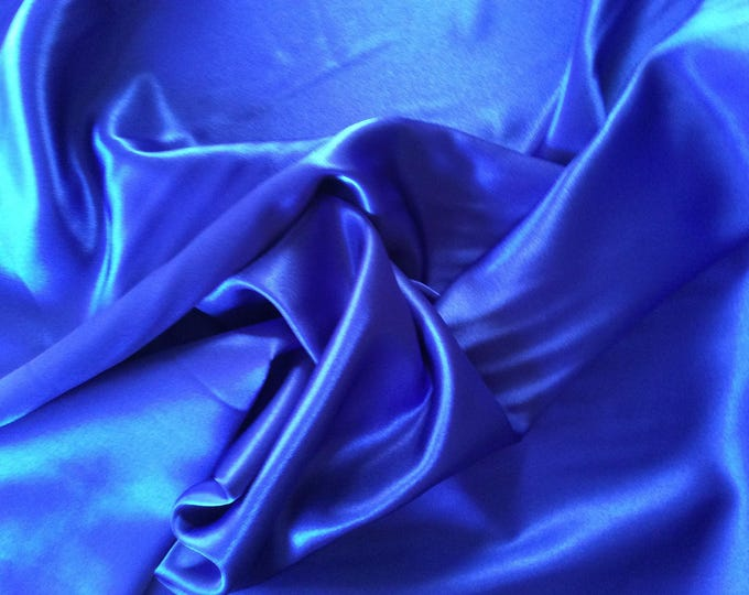 High quality silky satin, very close to genuine silk satin. Royal blue No8