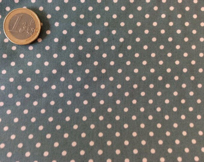 High quality cotton poplin dyed in Japan with 3mm polka dots nr35