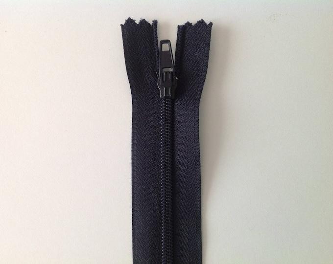 """Nylon coil zipper, 30cm (24""""), navy"""