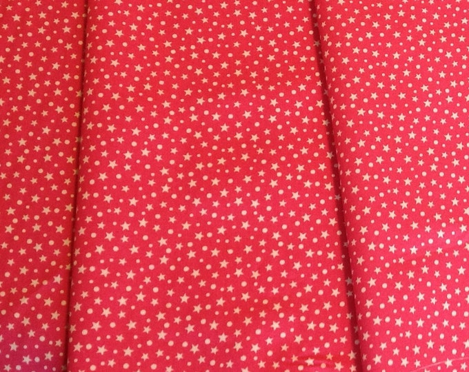 High quality cotton poplin, stars on hot pink