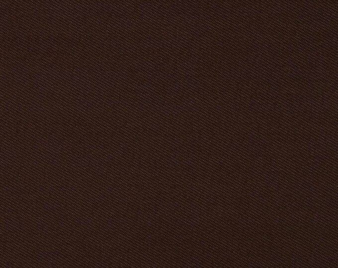 High quality cotton twill dyed in Japan, chocolate brown