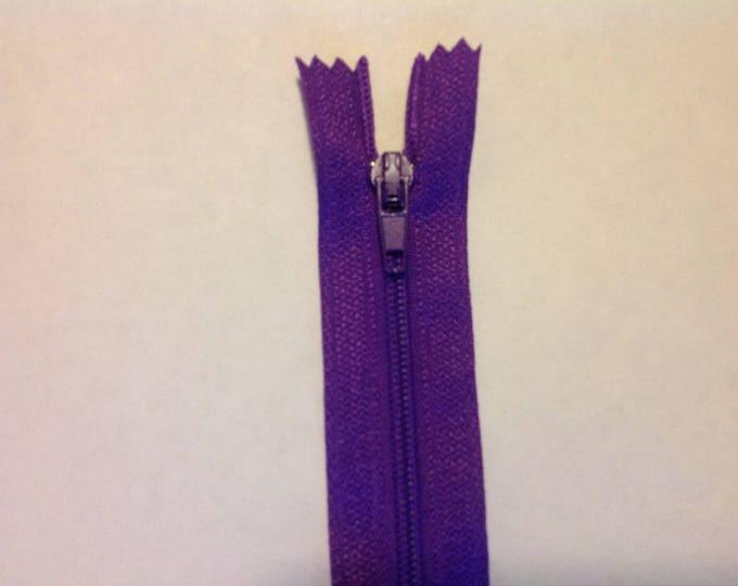 """Nylon coil zipper, 30cm (12""""), purple"""