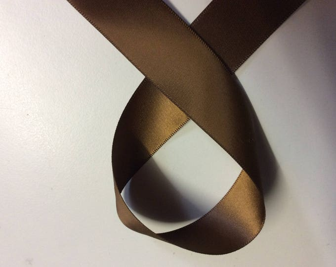 Chocolate double sided sateen ribbon