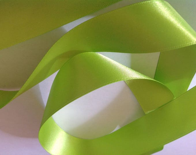 Apple' green double sided sateen ribbon