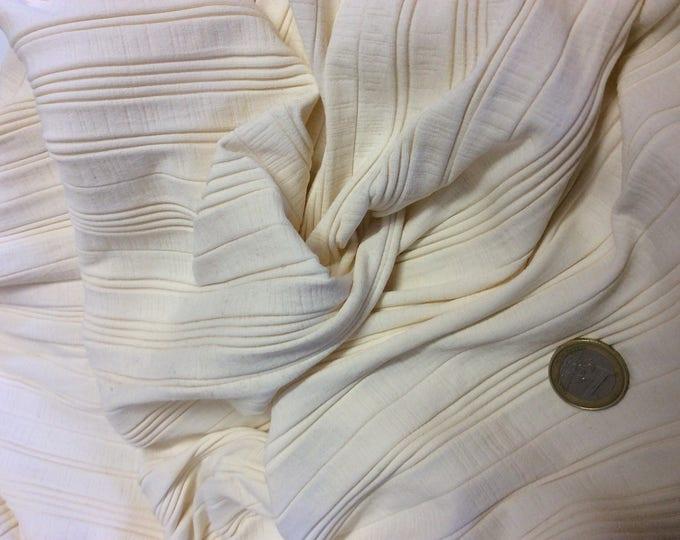 Cream Lycra fabric