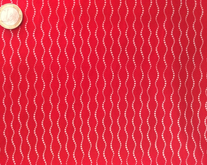 High quality cotton poplin dyed in Japan, red geometrical print
