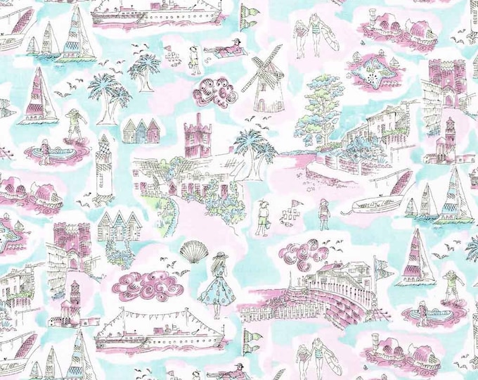 Tana lawn fabric from Liberty of London, Isle of Wight
