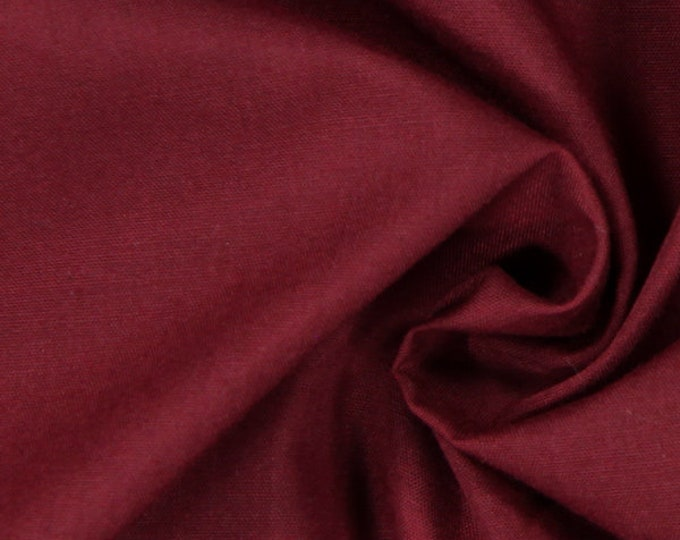 High quality cotton poplin, oekotex certified. Bordeaux col53