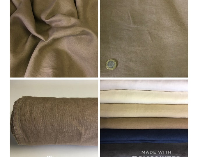 Heavy, washed linen, perfect for clothing and home accessories, taupe